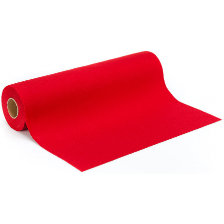 Tissu uni Rouge vif fibrane