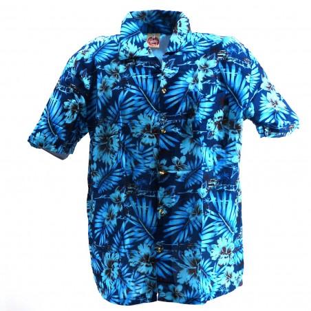 Chemise Hawaïenne bleu Moho