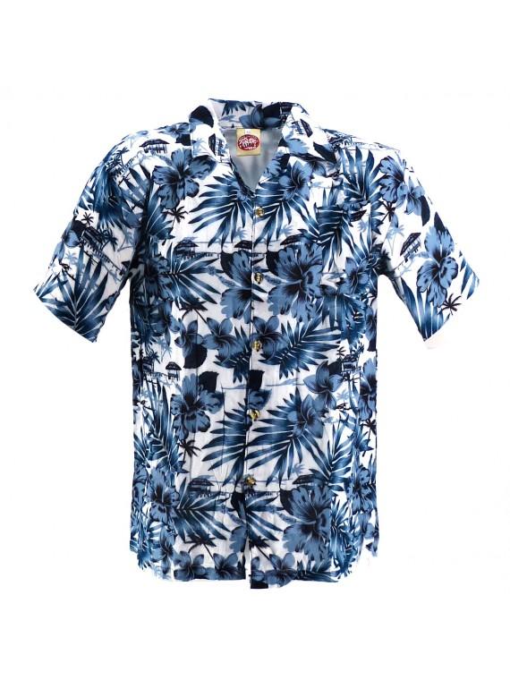 Chemise Hawaïenne blanche Moho
