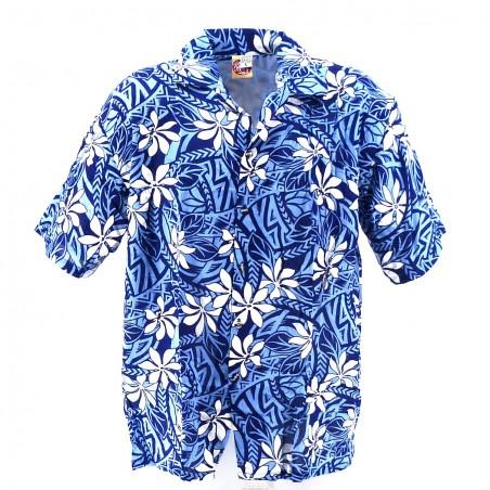 Chemise Hawaïenne efant bleu tiaré tatouage