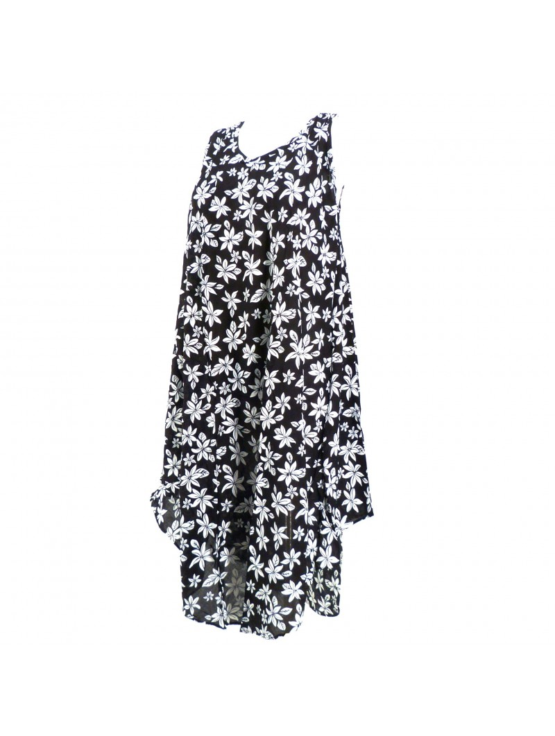 Robe grande taille jungle monochrome
