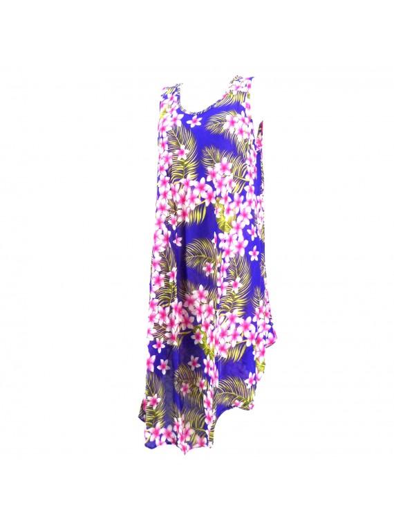 Robe tunique violet grande taille frangipane forest