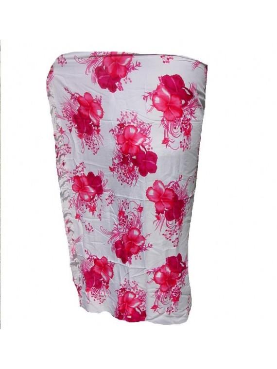 Paréo Hibiscus Art fushia