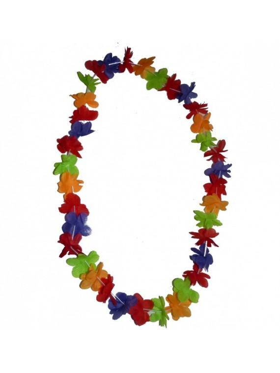 Collier de fleurs multicolore 1er prix par 10