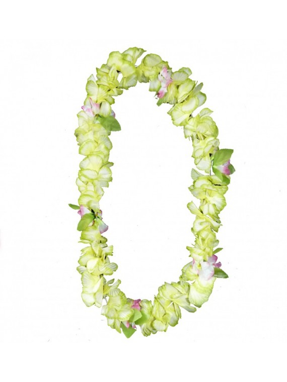 Colliers de fleurs luxe avec petites feuilles par 10