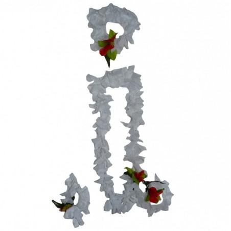 Ensemble colliers de fleurs, couronne, bracelets