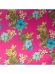 Tissu rose vintage hawaï