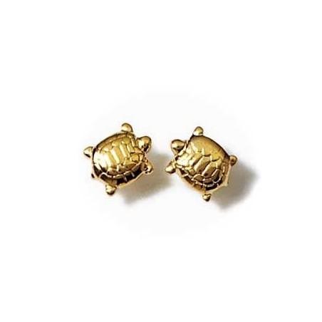 Boucle d'oreille tortue plaqué or