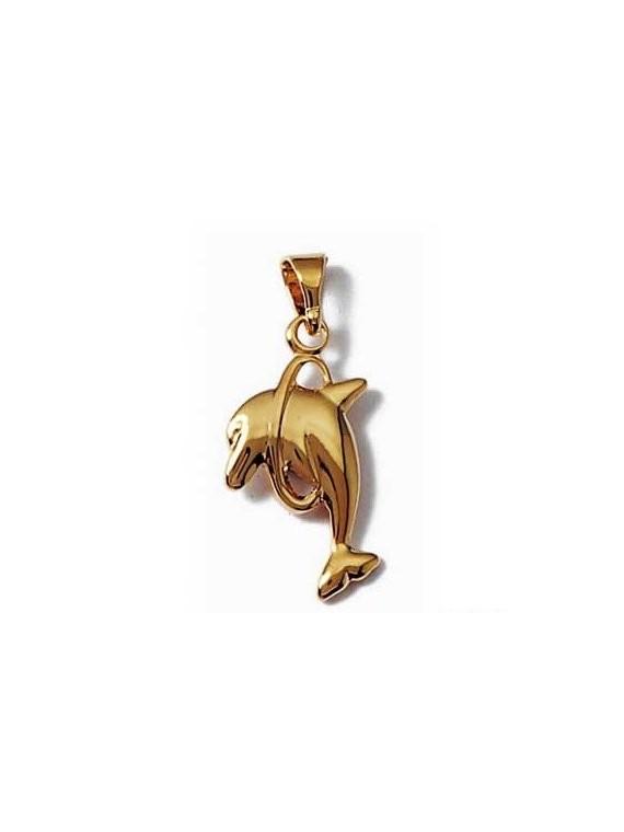 Pendentif dauphin plaqué or