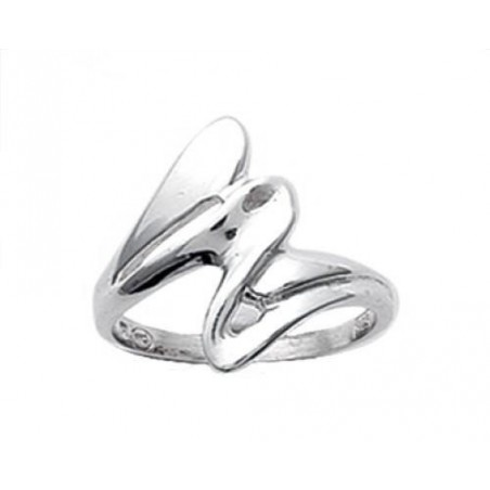 Bague argent simple vague