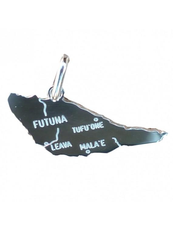 Pendentif carte futuna argent