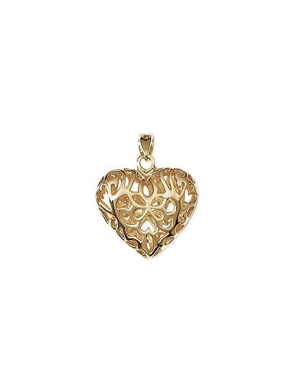 Pendentif coeur tatouage d'or