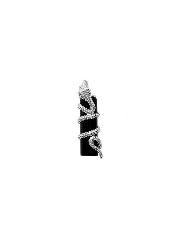 Pendentif serpent argent strass