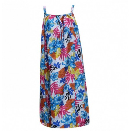 Robe Grande Taille Hawaienne Polychrome
