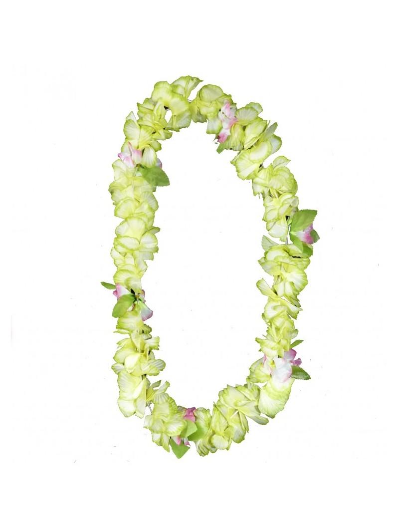 Colliers de fleurs luxe avec petites feuilles jaune