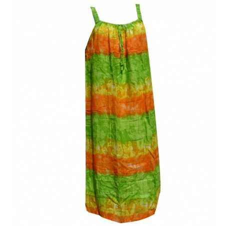 Robe grande taille pastel vert jaune orange