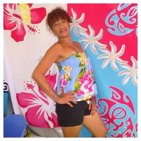 Bustier hawaï femme