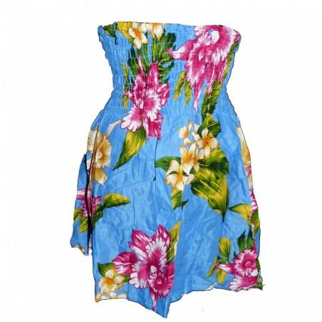 robe enfant bleu et rose Hawaï