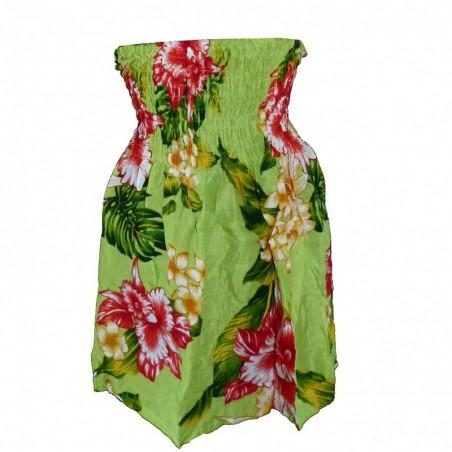 robe enfant vert Hawaï