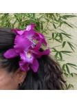 Pinces à cheveux croco orchidée