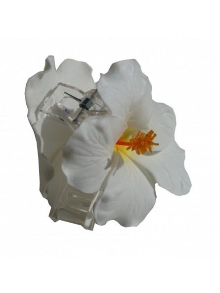 Pinces à cheveux croco hibiscus