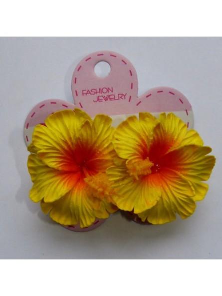 Mini barrette à cheveux hibiscus