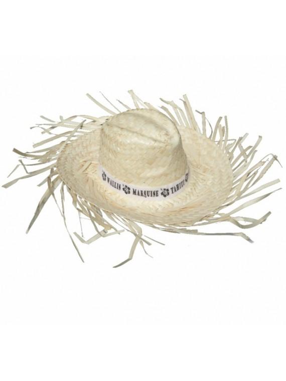 Chapeau de paille blanc