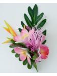 Composition frangipane et orchidée