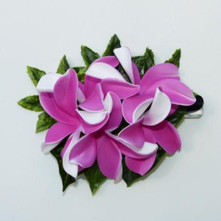 Pince bouquet frangipane rose foncé