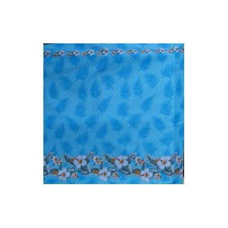 Tissu coton frise hibiscus