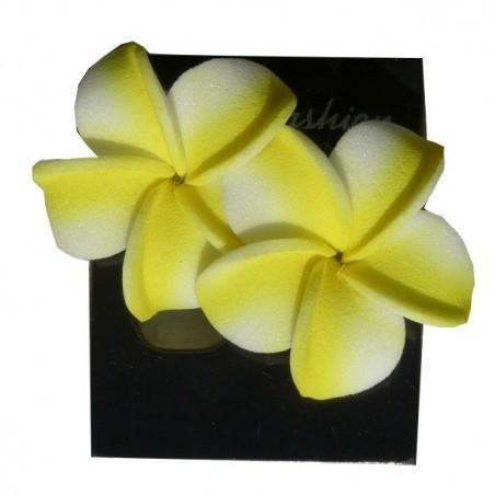 PETITE BOUCLE D OREILLE FLEUR jaune