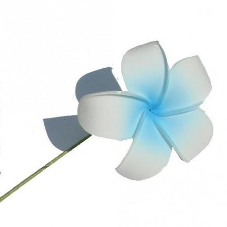 Tige métal frangipane blanc et bleu