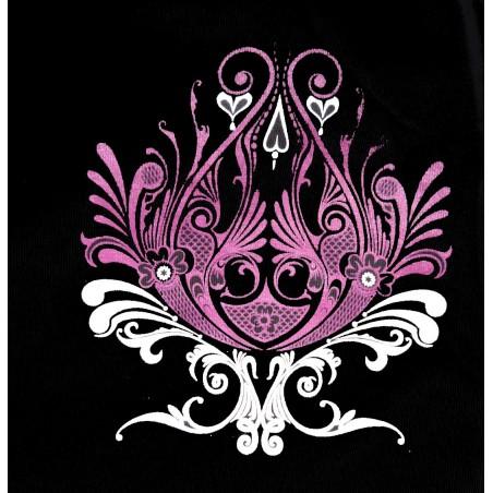 Débardeur femme tatouage bouquet d'arabesque