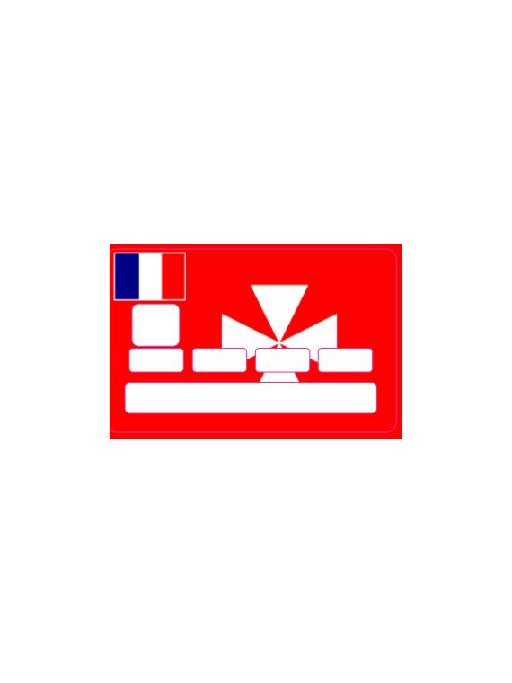 Autocollant pour Carte Bleu Drapeau Wallis