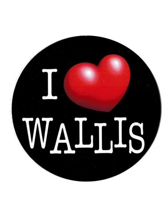 Autocollant I love Wallis