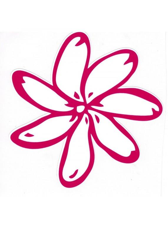 Autocollant Fleurs de Tiaré 12.5 cm