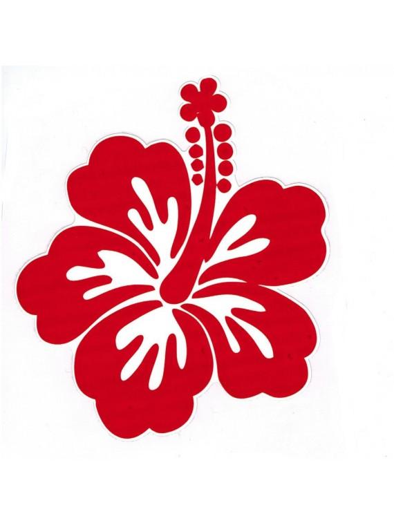 Autocollant Fleurs d'hibiscus 14 cm