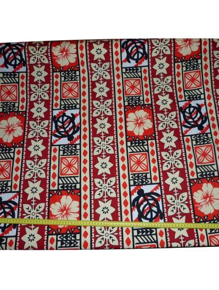 tissu coton rouge moderne tapa produit pacifique. Black Bedroom Furniture Sets. Home Design Ideas