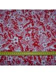 Tissu petites fleurs rouge canopée