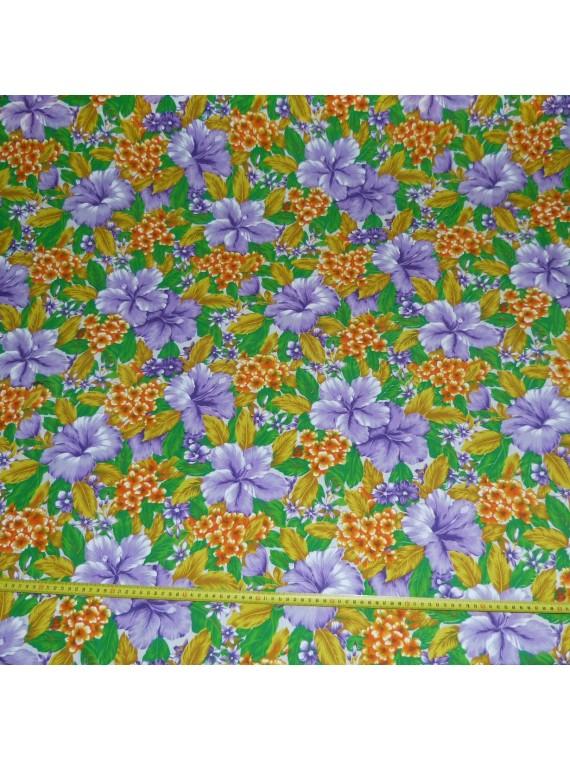 Rouleau de 35 m de Tissu à fleurs de bougainvillier Polyéster
