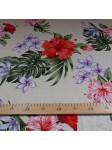 Tissu beige fleurs vintage hawaï