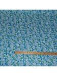 Tissu petites fleurs Turquoise canopée