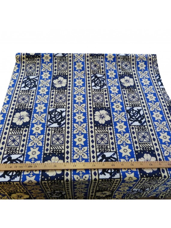 Tissu coton bleu moderne tapa