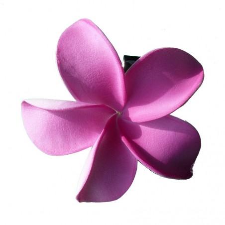 Barrette à cheveux frangipane rose foncé