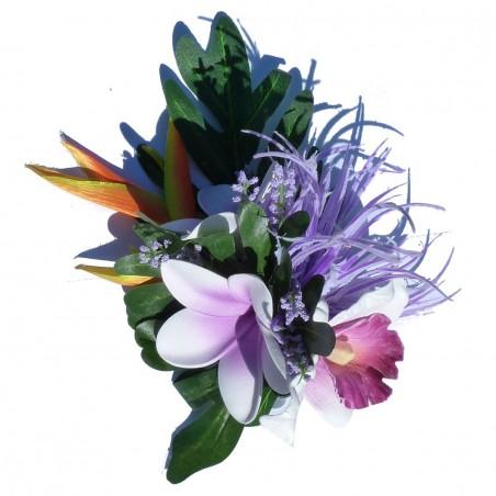 Composition  frangipanes et orchidée