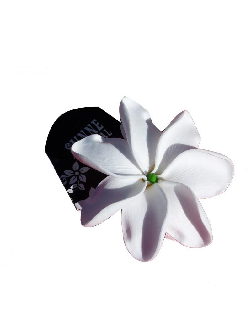 Barrette à cheveux Tiaré tattoo blanc