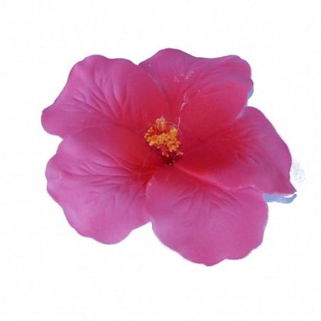 Barrette à cheveux Hibiscus rose foncé