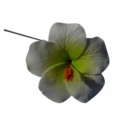 Hibiscus vert sur tige métal