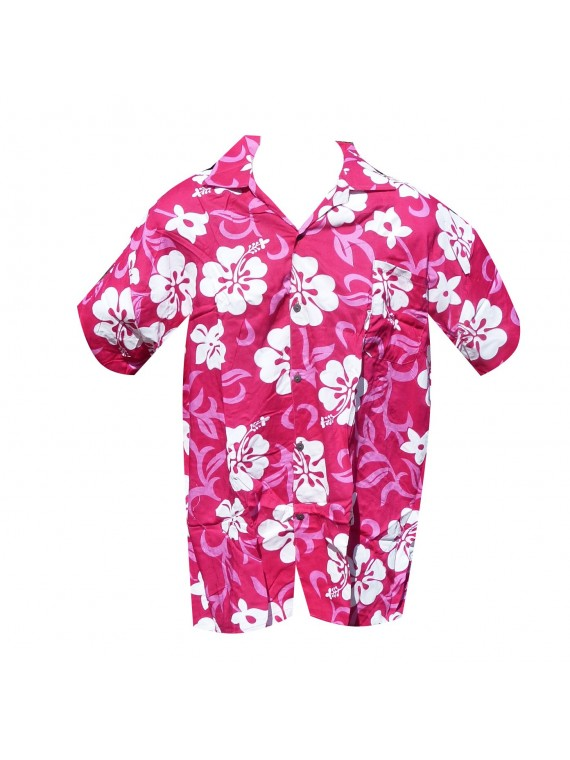 Chemise Hawaïenne gros hibiscus
