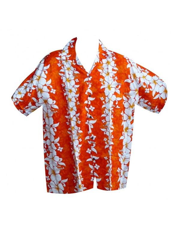 Chemise hawaïenne coeur doré